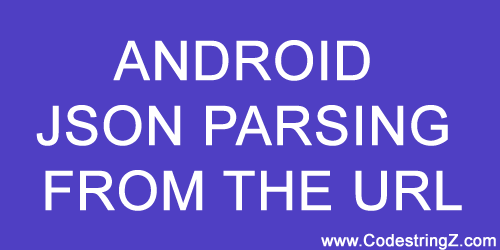 Android JSON Parsing from Web URL without Any Library